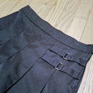 Pleated Front Uniform Skirt